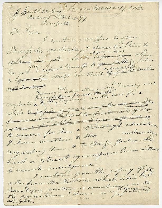 Colt, Samuel. Autograph letter signed  (