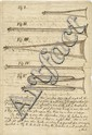 Morland, Samuel. Illustrated autograph manuscript describing his invention of the speaking trumpet