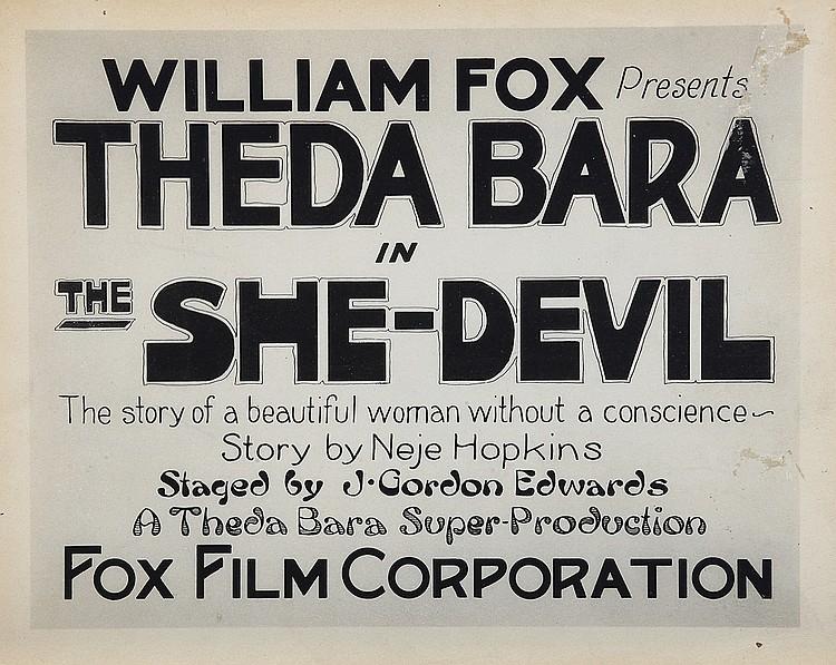 The She Devil Theda Bara Repro Film POSTER