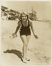 Early oversize double-weight portrait of Joan Blondell by Irving Lippman.