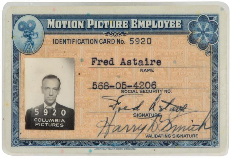 Fred Columbia Pictu Motion Personal Vintage Original Astaire