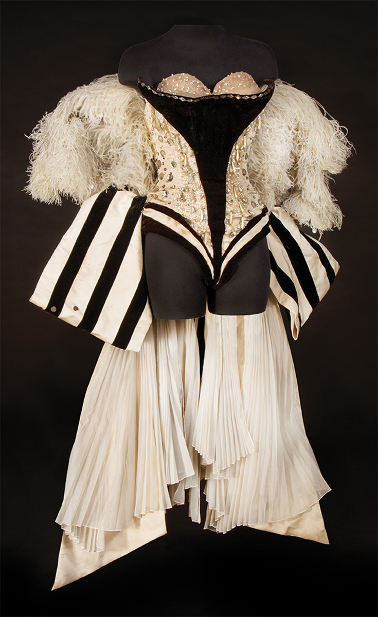 Marilyn Monroe showgirl costume worn at a 1955 Madison Square Garden charity benefit.