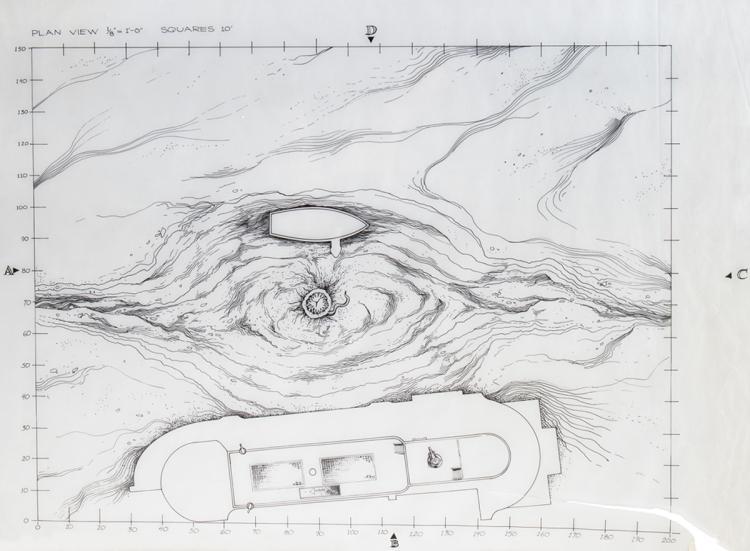 3) original pen & ink prod  illustrations of the Sarlacc Pi