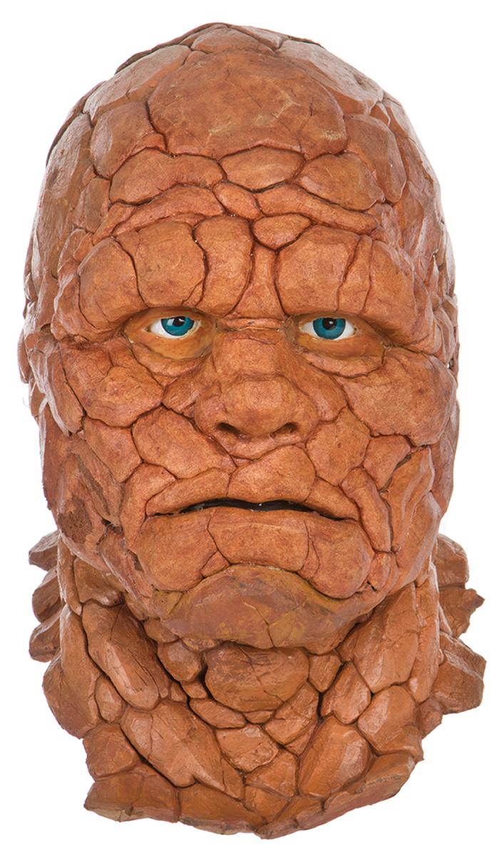 "Michael Chiklis ""Ben Grimm"" screen worn ""Thing"" makeup displ Michael Chiklis The Thing Makeup"