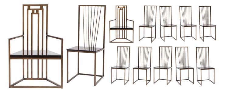 Set of (12) Presidential enclosure chairs from The Hunger Games .