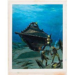 ORIGINAL COVER ARTWORK FOR 20,000 LEAGUES UNDER