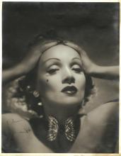 Marlene Dietrich signed oversize photograph.