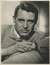 Cary Grant signed oversize photograph.