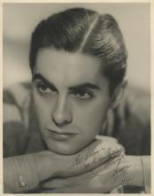 Tyrone Power signed oversize photograph.