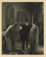 London After Midnight behind the scenes custom photograph featuring Tod Browning and Lon Chaney, Sr.