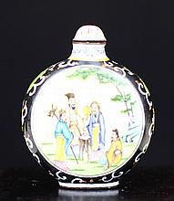 PAINTED ENAMEL SNUFF BOTTLE