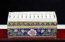 BONE ABACUS ON CLOISONNE ENAMEL BOX