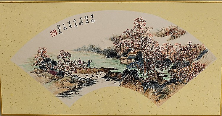 MOUNTED PAINTING ON PAPER, ATTRIBUTED TO LIU ZI JIU