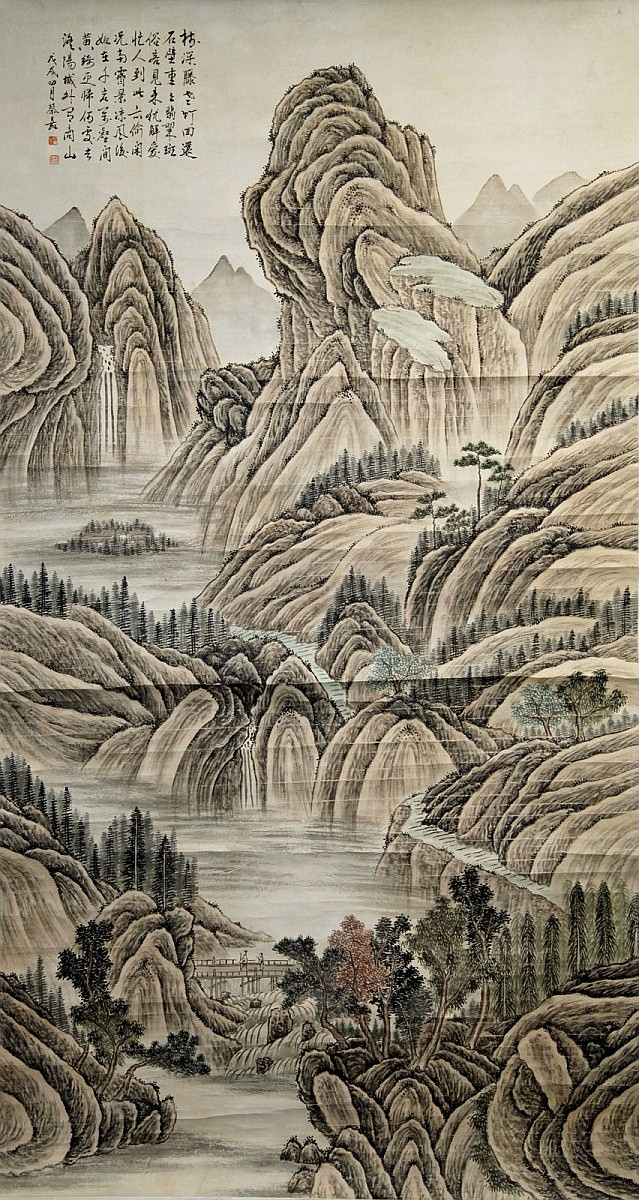 SCROLL PAINTING ON PAPER, ATTRIBUTED TO CAI JIA