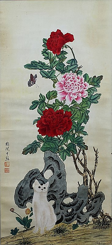SCROLL PAINTING ON PAPER, ATTIBUTED TO YU FEI AN