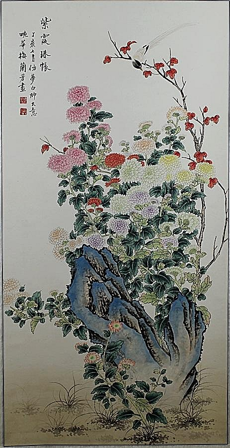 SCROLL PAINTING ON PAPER, ATTIBUTED TO MEI LAN FANG