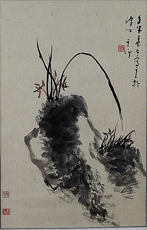 SCROLL PAINTING ON PAPER, ATTIBUTED TO BAI LE FENG