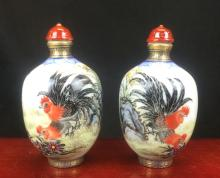 PAIR OF SNUFF BOTTLES