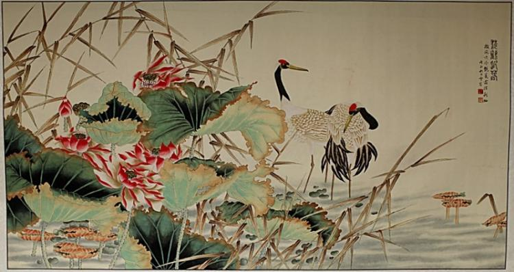 SCROLL PAINTING ON PAPER, ATTRIBUTED TO CHEN ZHI FO