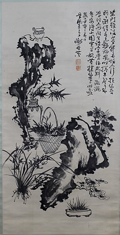 SCROLL PAINTING ON PAPER,  ATTRIBUTED TO WU PEI FU