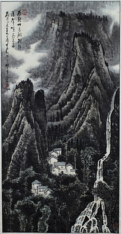 SCROLL PAINTING ON PAPER,  ATTRIBUTED TO LI KE RAN