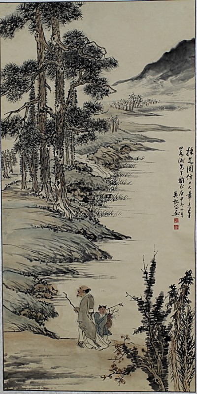 SCROLL PAINTING ON PAPER,  ATTRIBUTED TO WU GUAN DAI