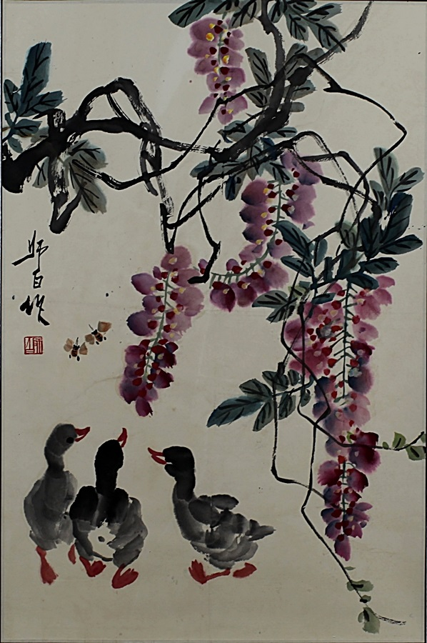 SCROLL PAINTING ON PAPER, ATTRIBUTED TO LOU SHI BAI