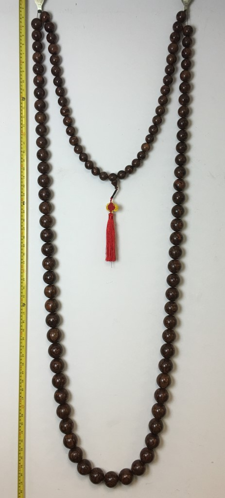 SUPER-LONG HAINAN HUANG-HUA-LI WOOD PRAYER'S BEADS