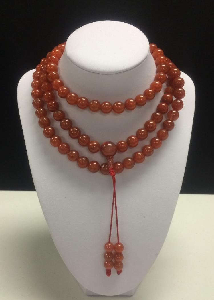 SOUTHERN RED AGATE PRAYER'S BEADS