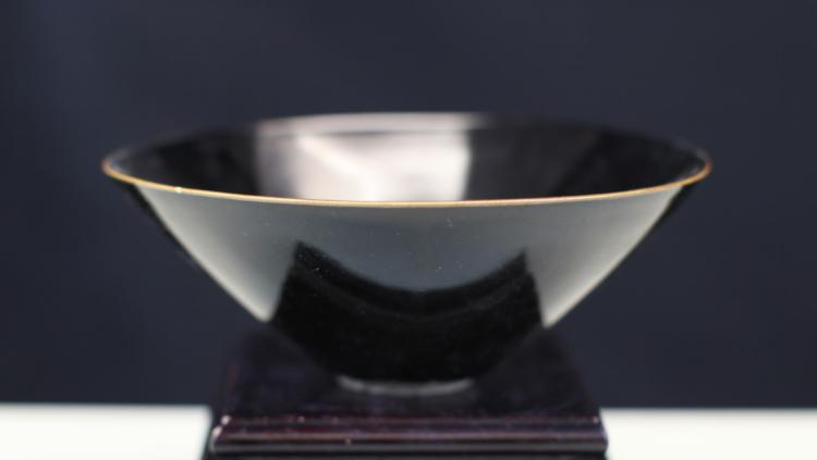 BLACK GLAZED PORCELAIN BOWL