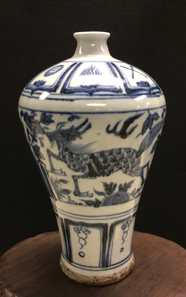 BLUE AND WHITE PORCELAIN MEIPING