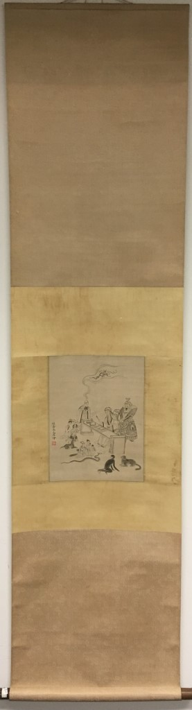SCROLL PAINTING ON PAPER, ATTRIBUTED TO YU ZHI DING