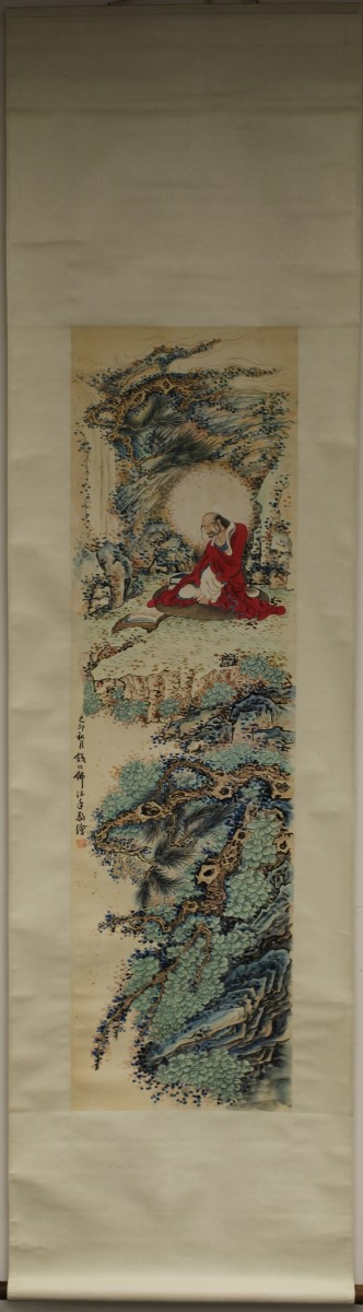 SCROLL PAINTING ON PAPER, ATTRIBUTED TO QIAN HUA FO