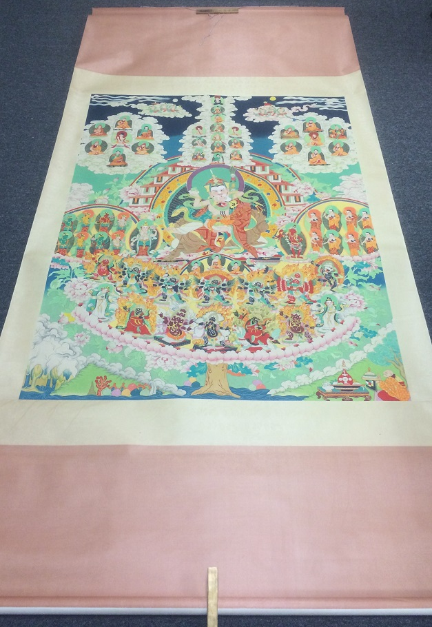TIBETAN THANGKA PAINTING SCROLL