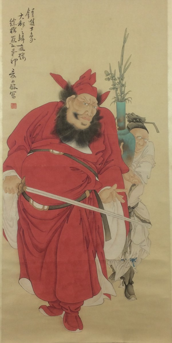 SCROLL PAINTING ON PAPER, ATTRIBUTED TO XU CAO