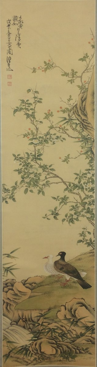 SCROLL PAINTING ON SILK, ATTRIBUTED TO CHEN PEI QIU