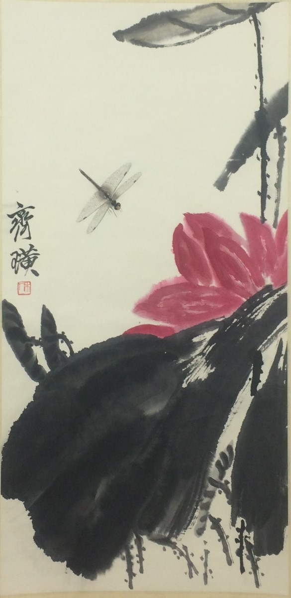 SCROLL PAINTING ON PAPER, ATTRIBUTED TO QI BAI SHI
