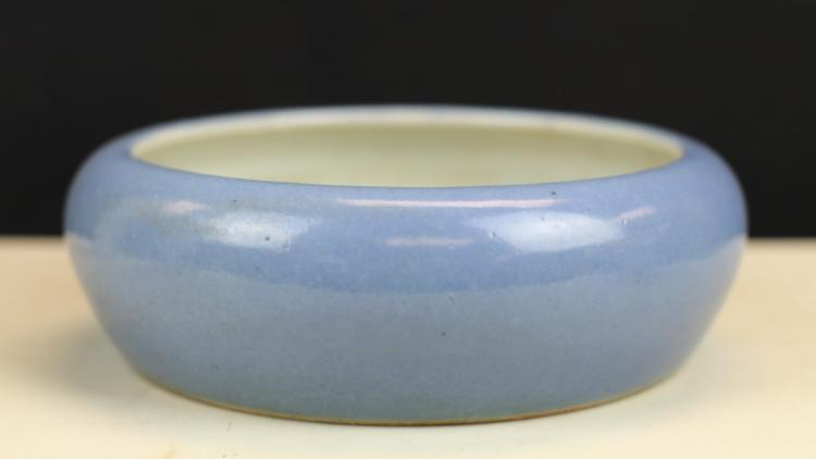 BLUE GLAZED PORCELAIN BRUSH WASHER