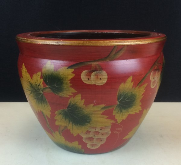 RED GLAZED POTTERY POT