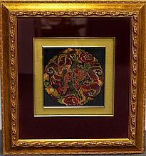 FRAMED NEEDLEWORKS WITH FISH MARK