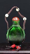 OLD PEKING GLASS SNUFF BOTTLE