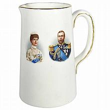 Royal Doulton King George V Commemorative Coronation Small Pitcher, 1911