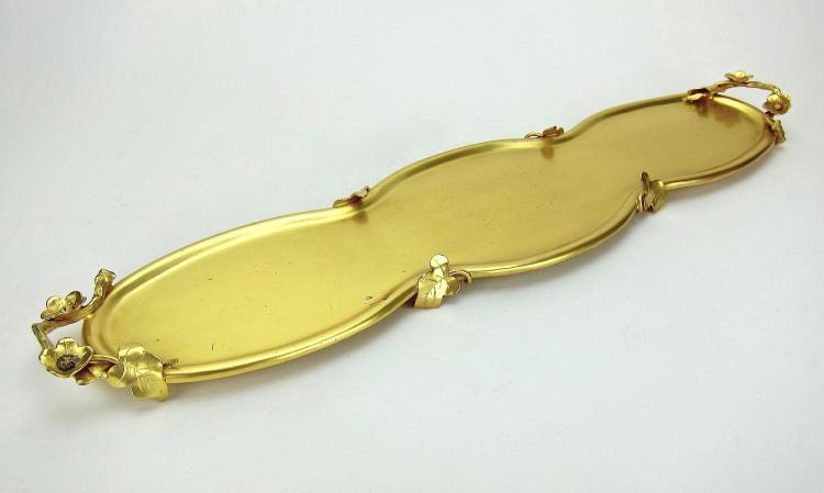 Large marie zimmermann sterling silver gilt art nouveau tray for The jewelry and metalwork of marie zimmermann
