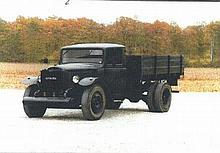 Citroen camion type 45G (1941) symbole Usine P386, moteur gazogène Imbert