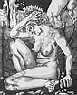 Zettl, Baldwin (1943 Leipzig, lebt in Leipzig) Die Einsame, Sommer. Kupferstich auf Kupferdruckpapier. 24,8 x 20,4 cm. 1985. Signiert, datiert,, Baldwin  Zettl, Click for value