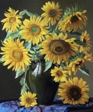 Sunflowers in a Moraccan Urn