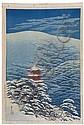 Ito, Takashi (Jpn. 1894 - 1982). After Snow at Kyoto. 1929., Ito Takashi, Click for value