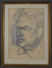 Mervyn Levy. Portrait of Dylan Thomas. 1949.