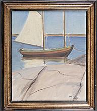 Collin, Marcus, Boat Scene, oil on canvas.