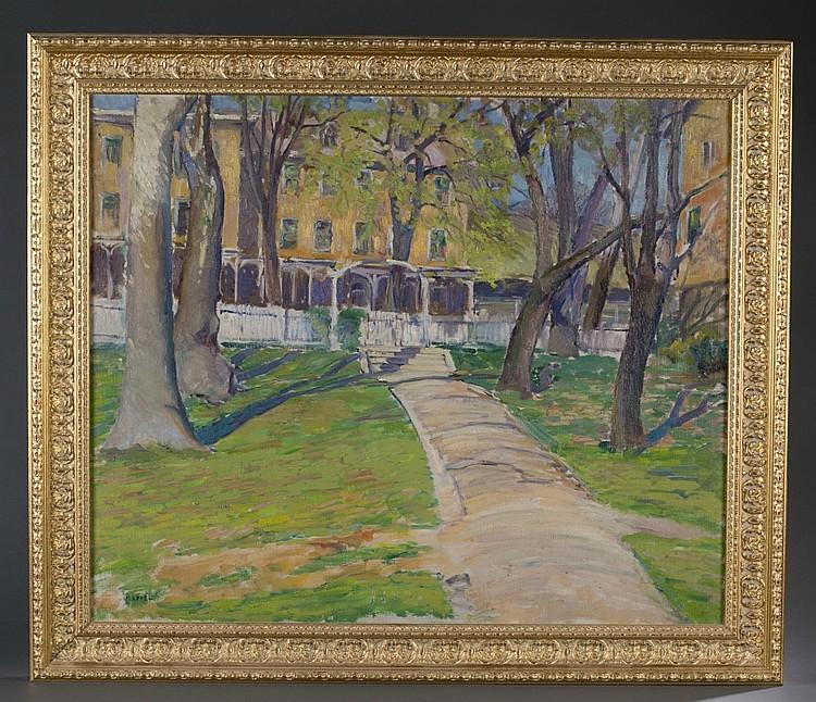Viola Appel, Landscape w/House, o/c.